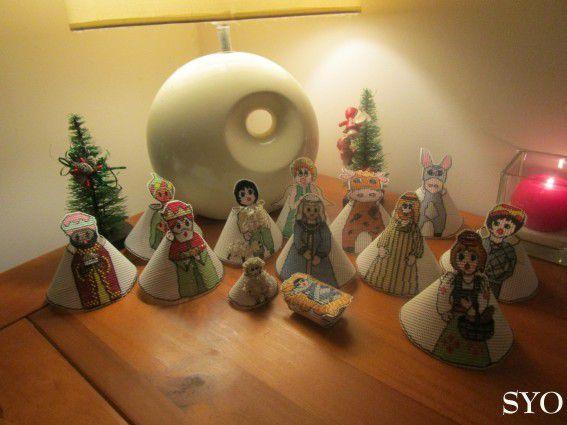 La Crèche Noël 2015 brodée en 3 D: Le pêcheur