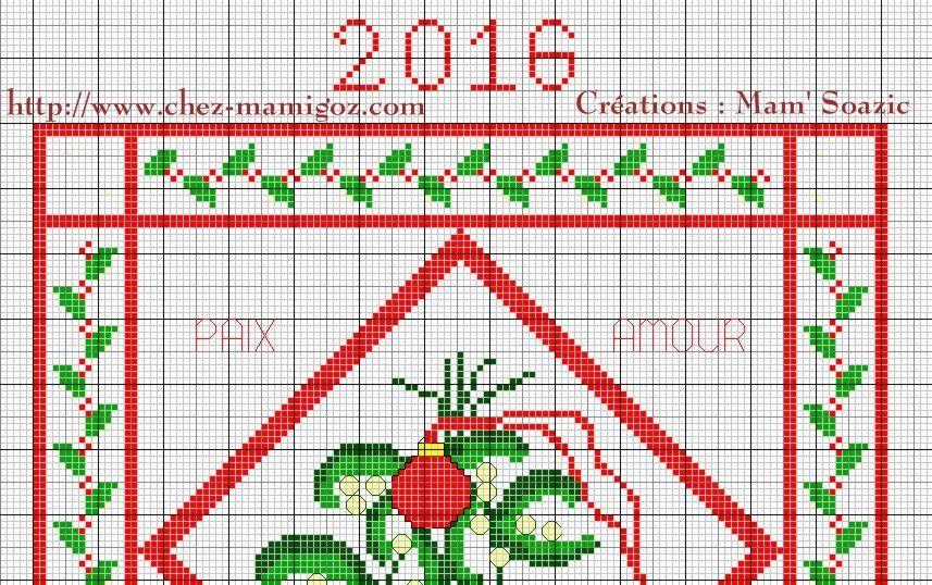 Bonne Année 2016, à broder