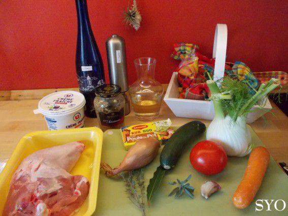 Cuisse de Dinde crémée aux Petits Légumes, du Petit Bistro
