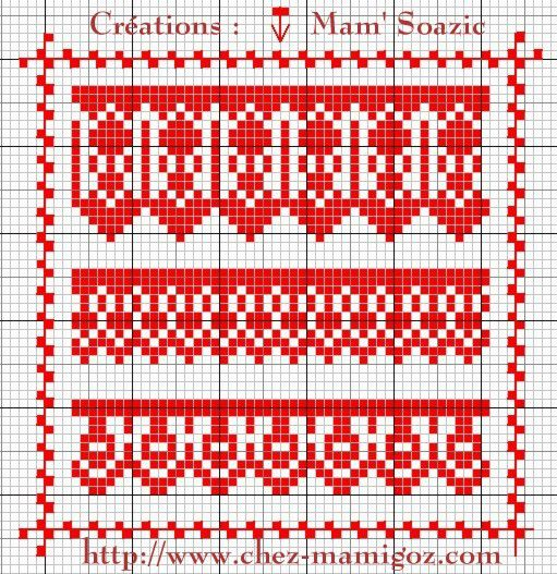 SAL : Plaid Broderie Rouge... Grille 57 / J10