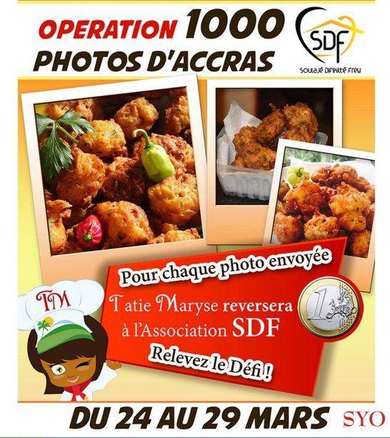 Opération Photos 1000 Accras chez Tatie Maryse