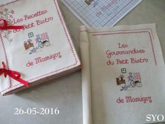 Livre Recettes Brodées de Mamigoz: 15 pages montées + tome II