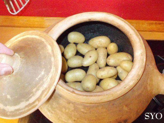Bar au Citron et Pommes de terre de Noirmoutier au Diable Charentais