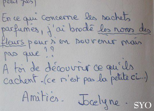 Les Sachets de Lavande énigmatiques de Jocelyne.