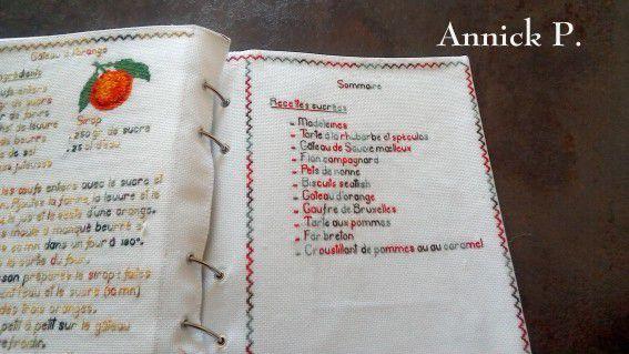 Album Livre de Recettes brodées de Mamigoz