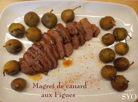 Magret de Canard mariné au piment d'Espelette, aux figues.