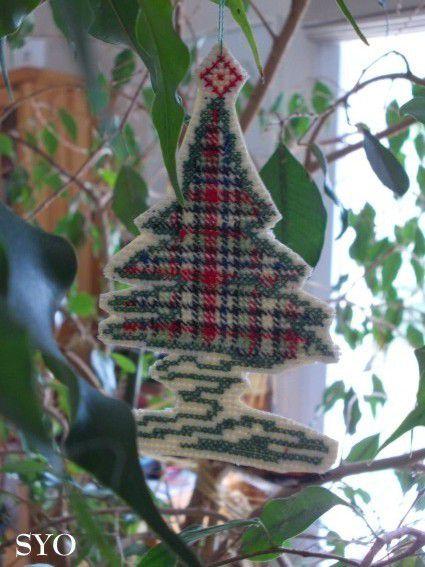 Sapin  Noël: Une spirale de Madras et son tutoriel