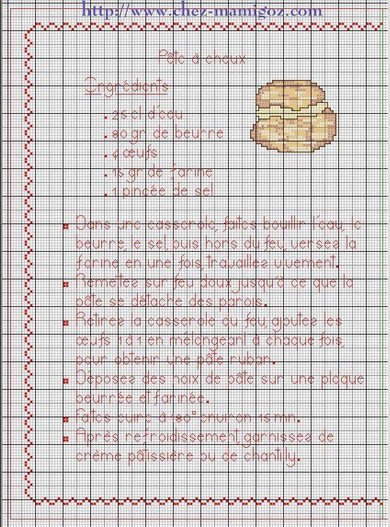 Livre Recettes Brodées de Mamigoz: Pâte à Choux