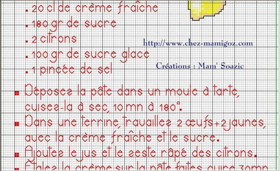 Livre Recettes Brodées de Mamigoz: Tarte au Citron Meringuée