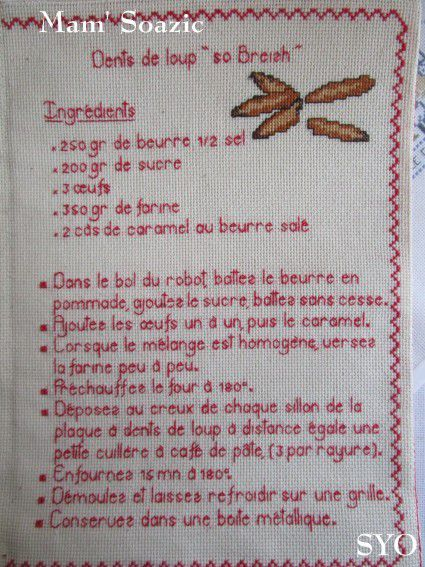 Livre Recettes Brodées de Mamigoz: Dents de loup  So Breizh