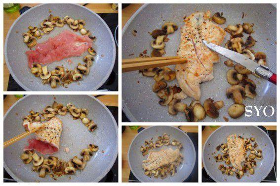Escalope de dinde aux champignons crème de Garam Masala