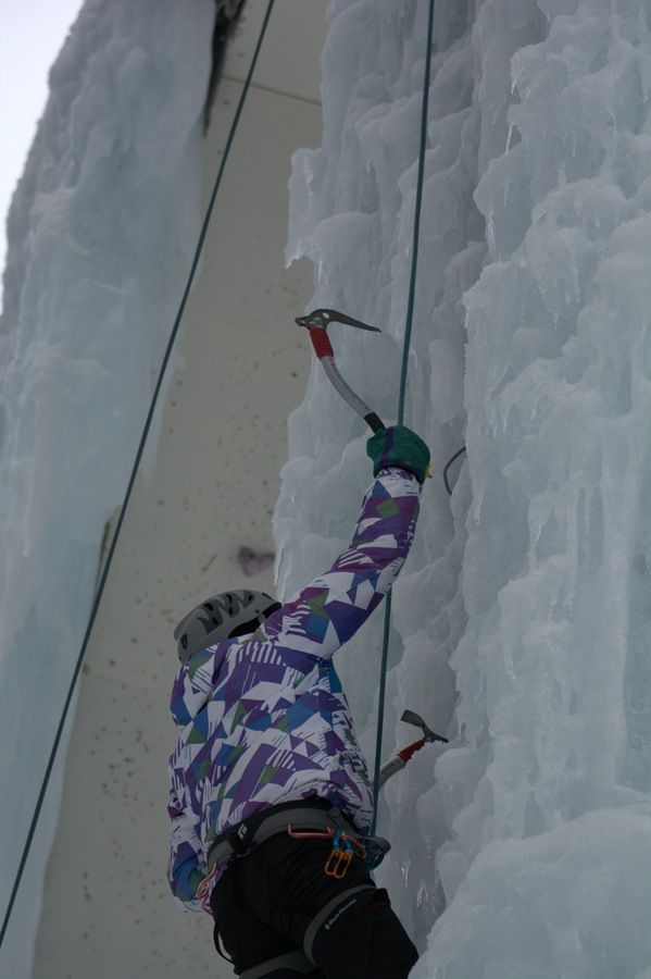 Cascade de glace Champagny en Vanoise