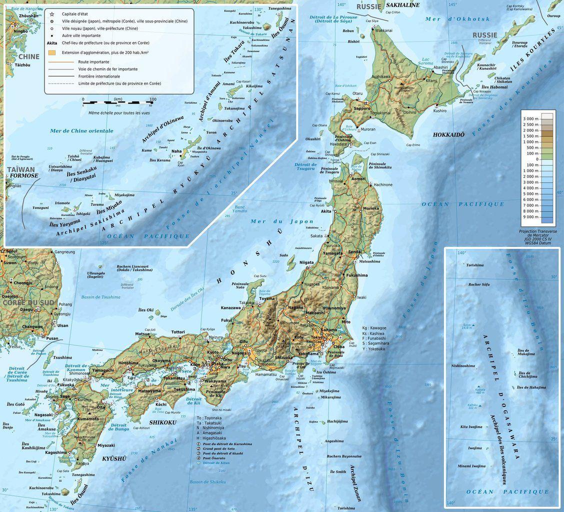 Carte du Japon (cf. http://www.japoninfos.com/carte-du-japon.html )