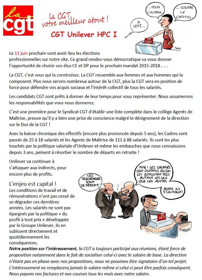 Elections professionnelles 11 juin 2015