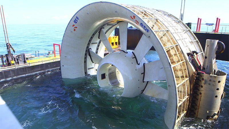 Premier test grandeur nature d'une hydrolienne en Bretagne : une réussite