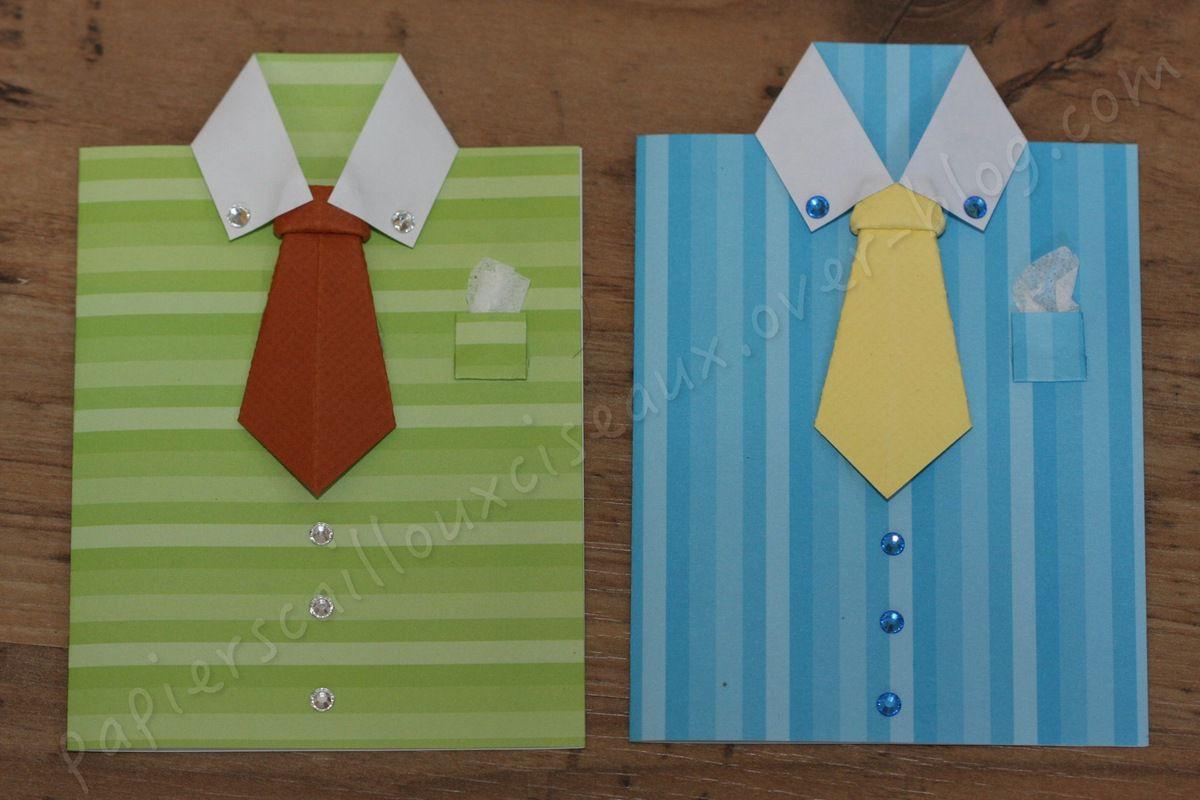 Cartes chemise - cravate