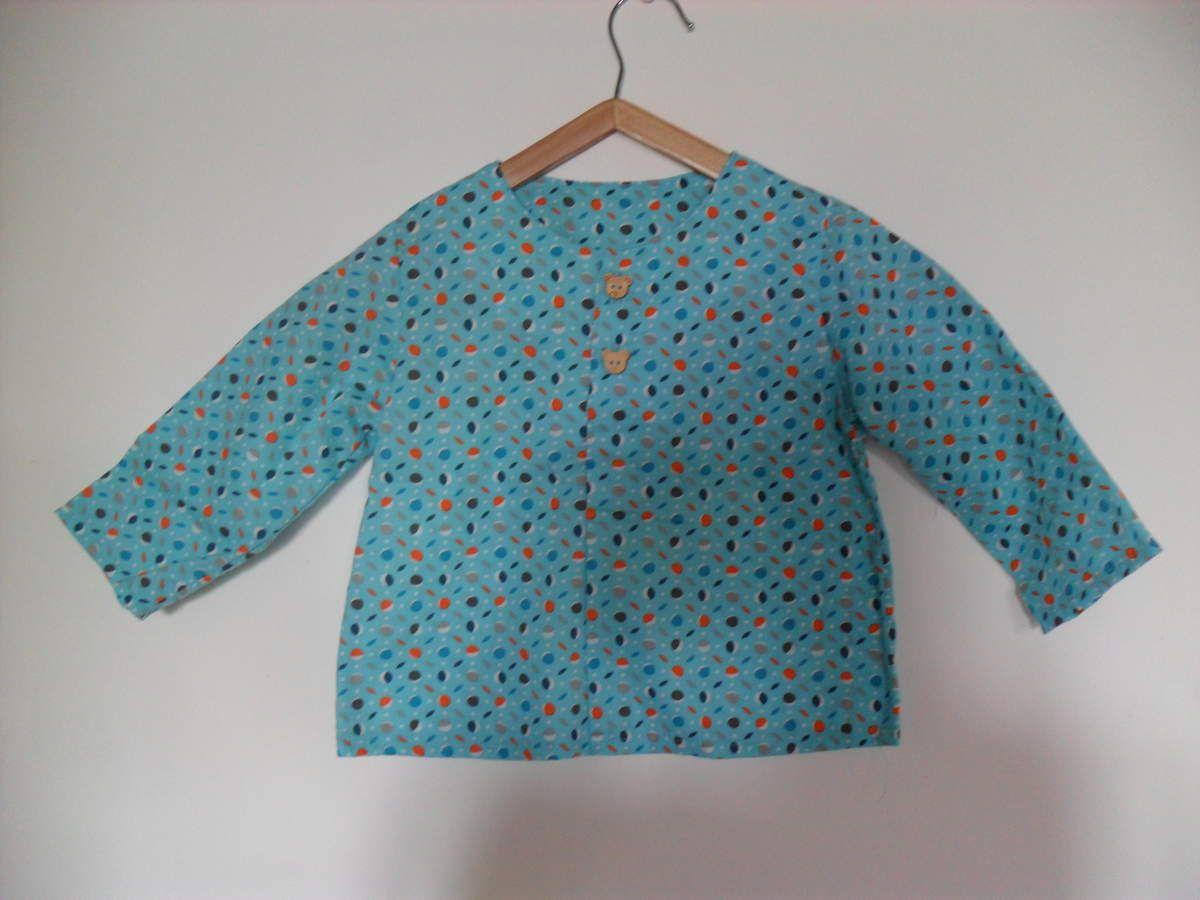 Tunique boutonnée et pantalon taille élastiquée, ou l'overdose des intemporels pour enfants