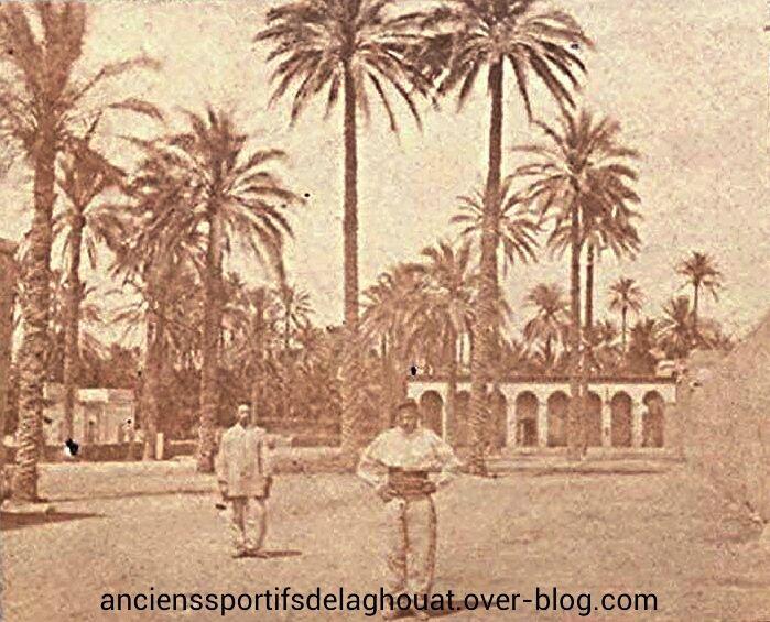 Rahbet Zitoun en face Djenen el Bailek appellé autrefois la pépinière en 1870.