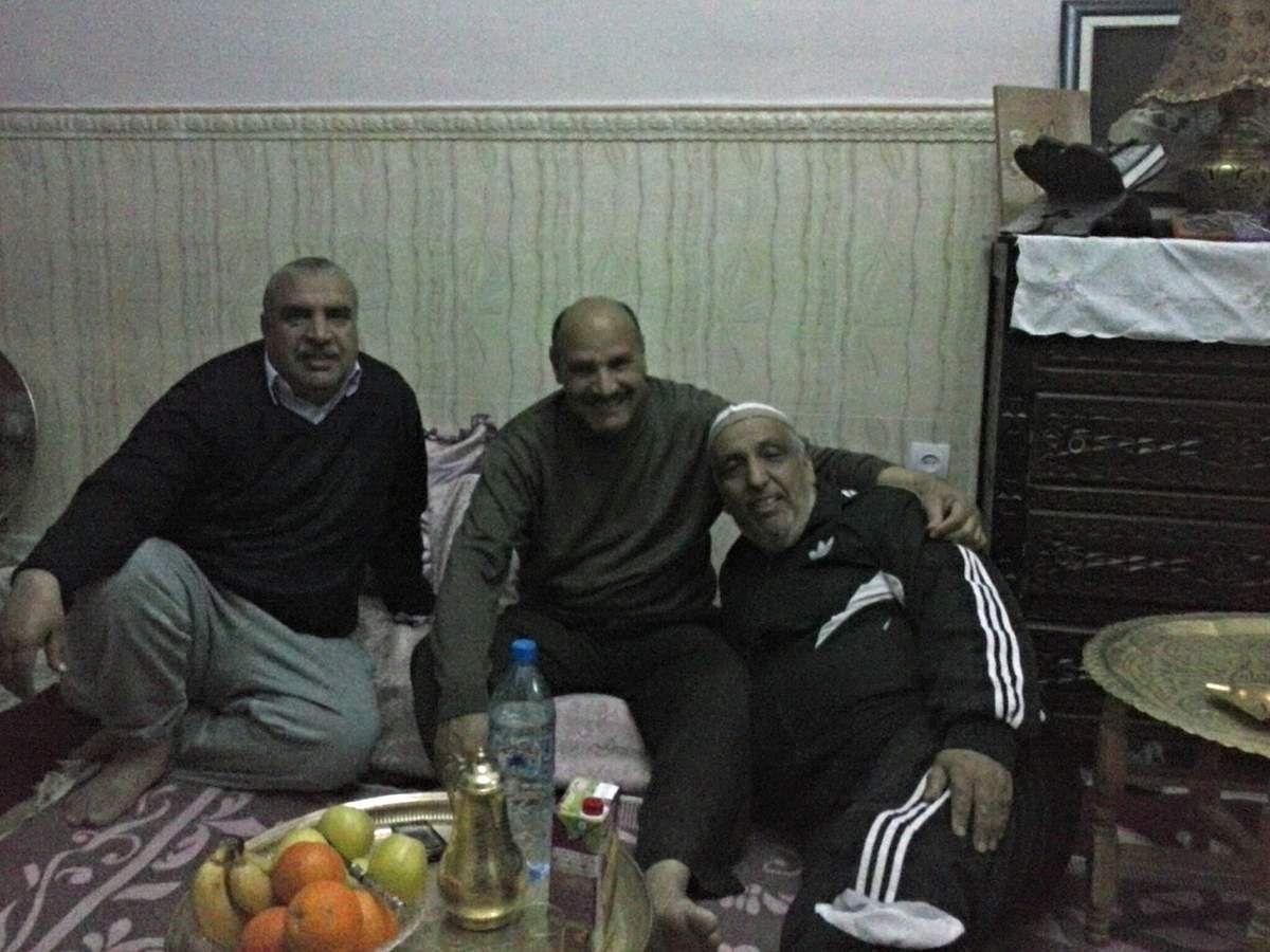 Hier en compagnie de Si Med Souaghir au milieu et Hadj Zoubir.