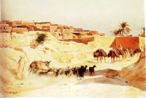 Laghouat,durant juin 1853,par E. Fromentin,