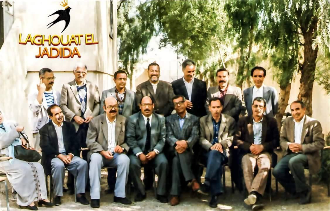 Debout de gauche à droite : Hadj Boucebsi Djelloul,Hadj Benmouiza,Si Al Affia(R.A.) Mekhanet Aek, ?,Si H'mida Djamat (R.A.),Si Choucha,(R.A.). Assis :Hadj Abdessalem Taibaoui,Hadj Sehairi Djelloul (R.A.), H. Attia Aiwaz,Si Hamiya Oubati,Si Brahim Tadj,Si Abdelaziz (R.A.),Si Labter Madani.