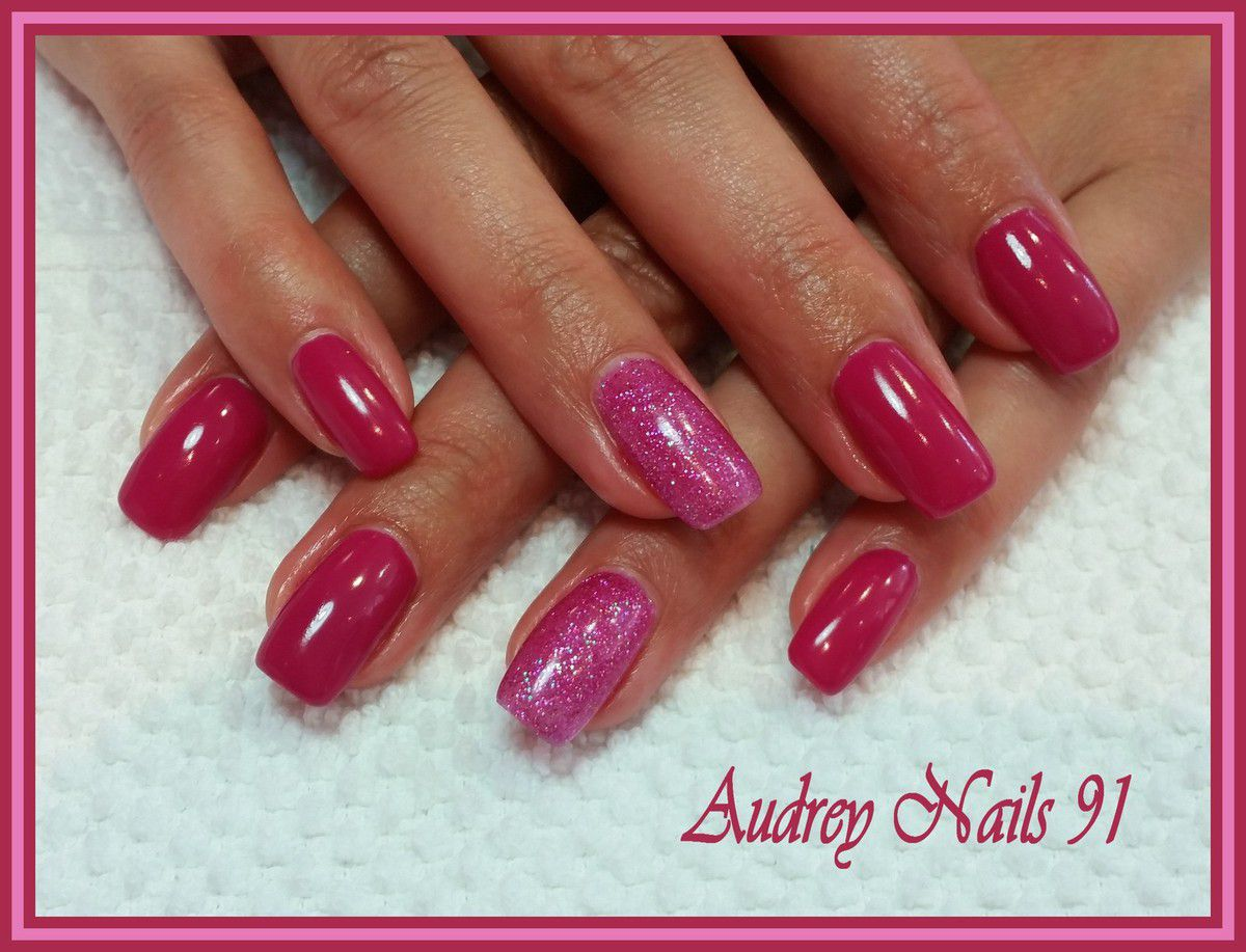 Gel de couleur rose fushia + astral pink