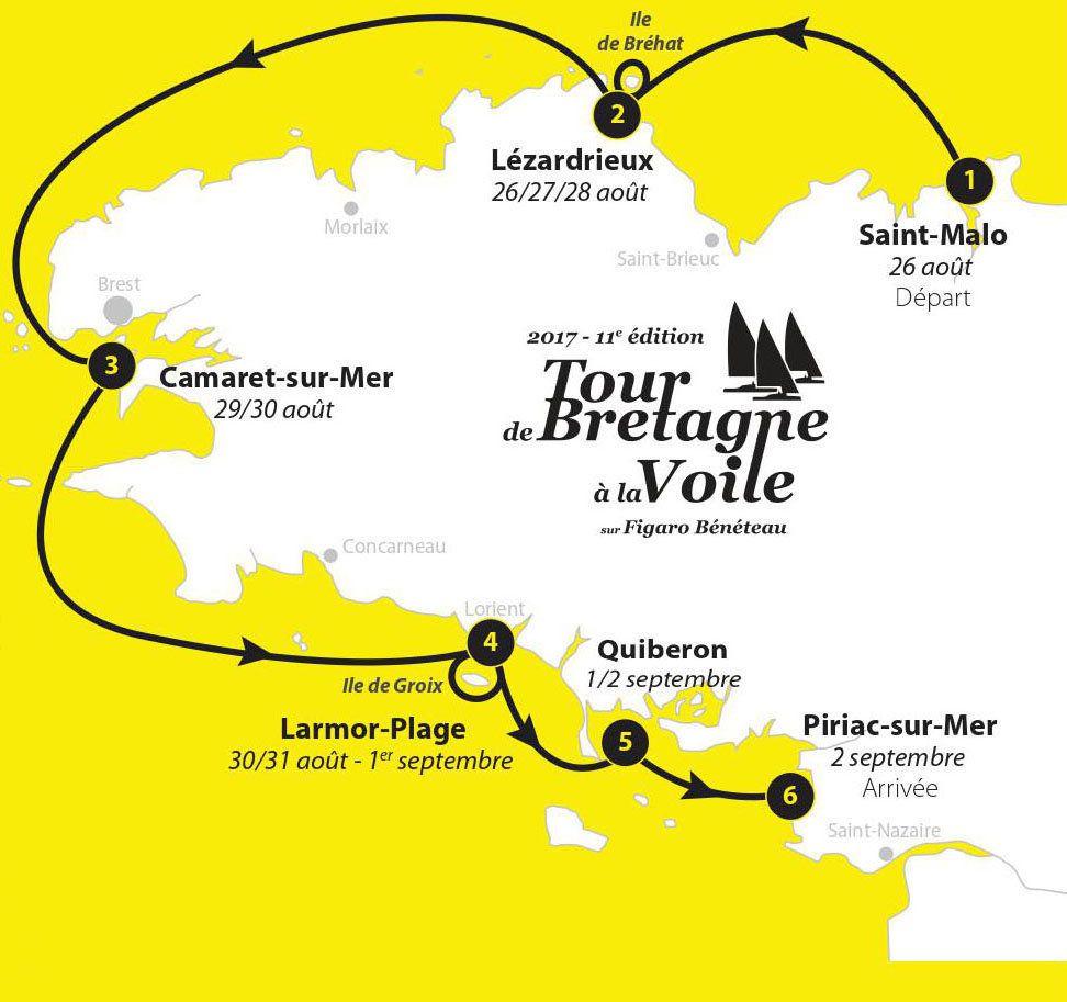 TOUR DE BRETAGNE  À  LA VOILE EN IMAGES