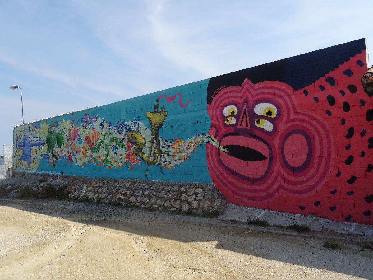 Street art à Sète: sur les traces du K-Live 2014