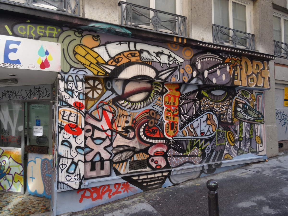 Street art dans les rues de Lyon