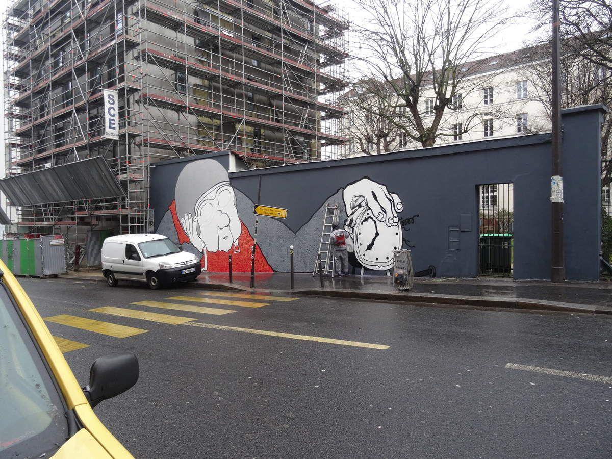 Nouvelle fresque d'Ella &amp&#x3B; Pitr à Paris