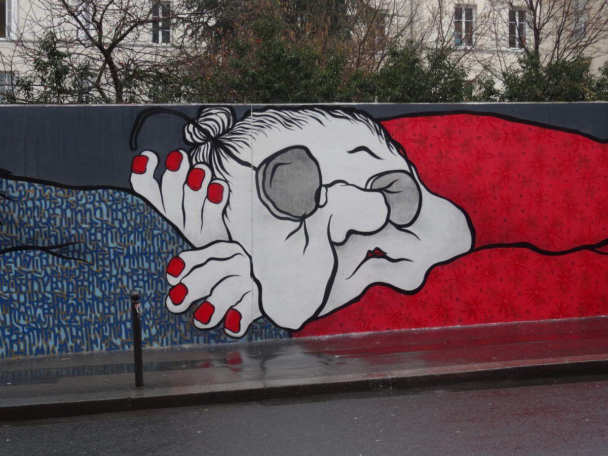 Nouvelle fresque d'Ella & Pitr à Paris