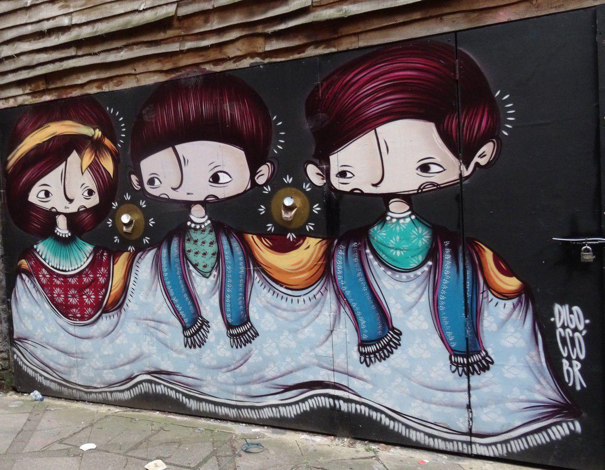 Street art à Camden Lock avant démolition