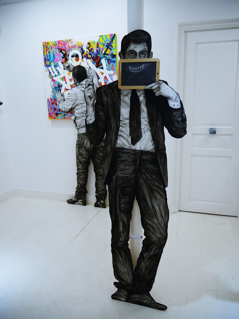 Exposition recto verso: Levalet x Zenoy à la galerie Géraldine Zberro