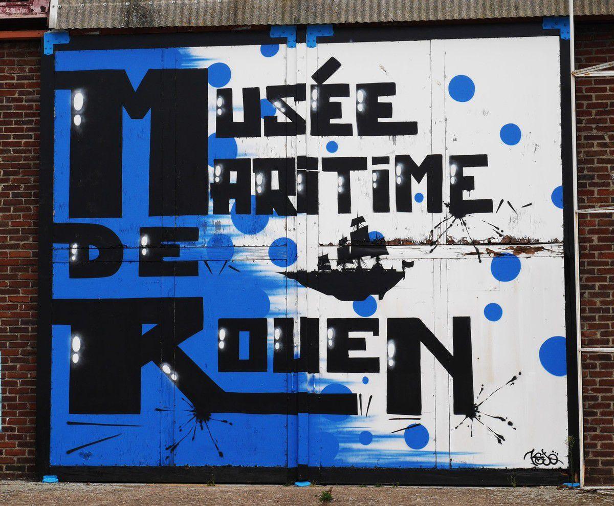 Street art à Rouen #1 : parcours du port