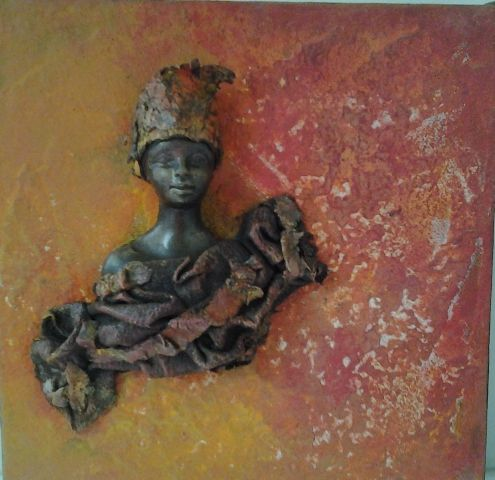 Stone art sur chassis l'africaine- belle texture