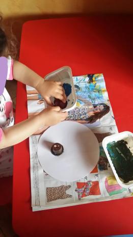 Peinture technique capsule de café