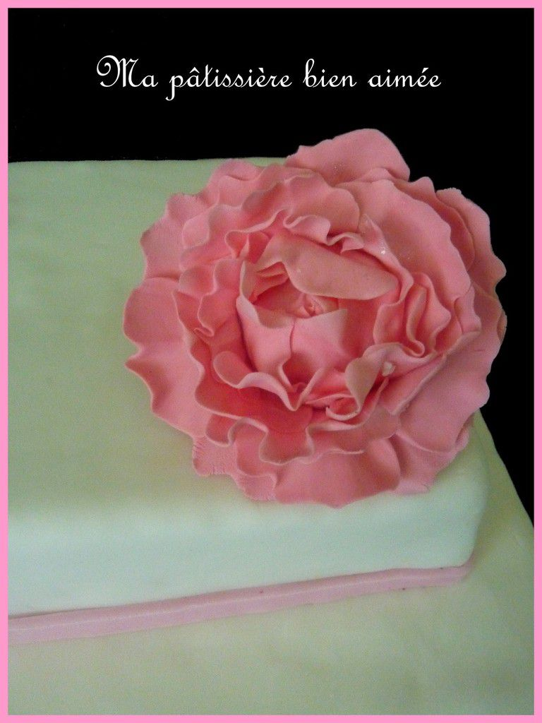 Wedding cake rose et blanc