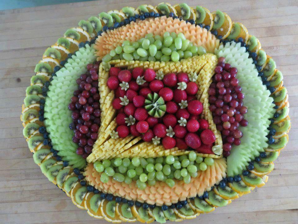 Présentation originale de fruits