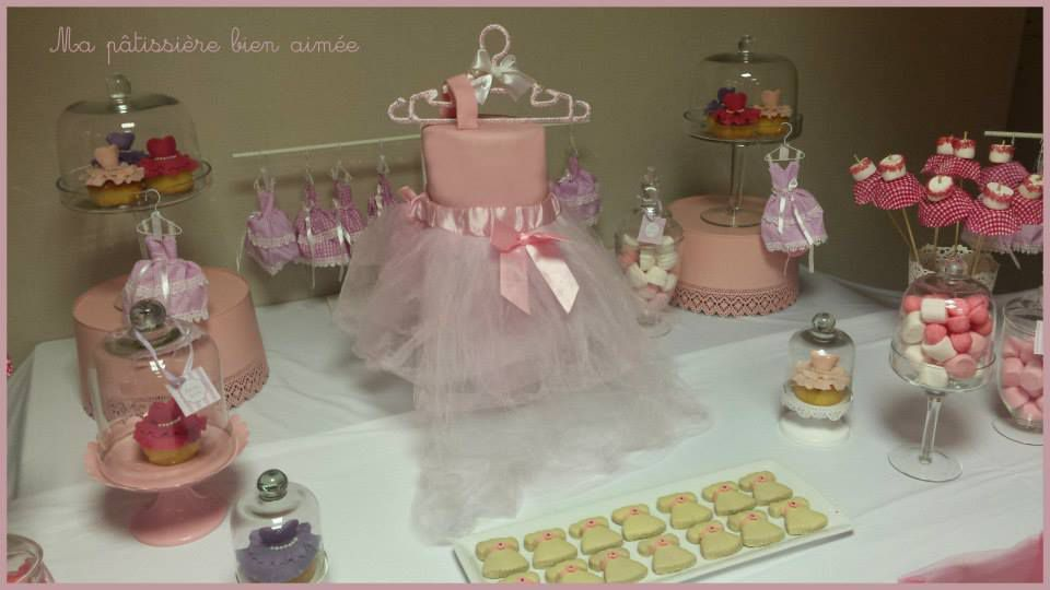 Sweet table candy bar bapt me b b fille ma p tissi re for Decoration de table pour bapteme fille