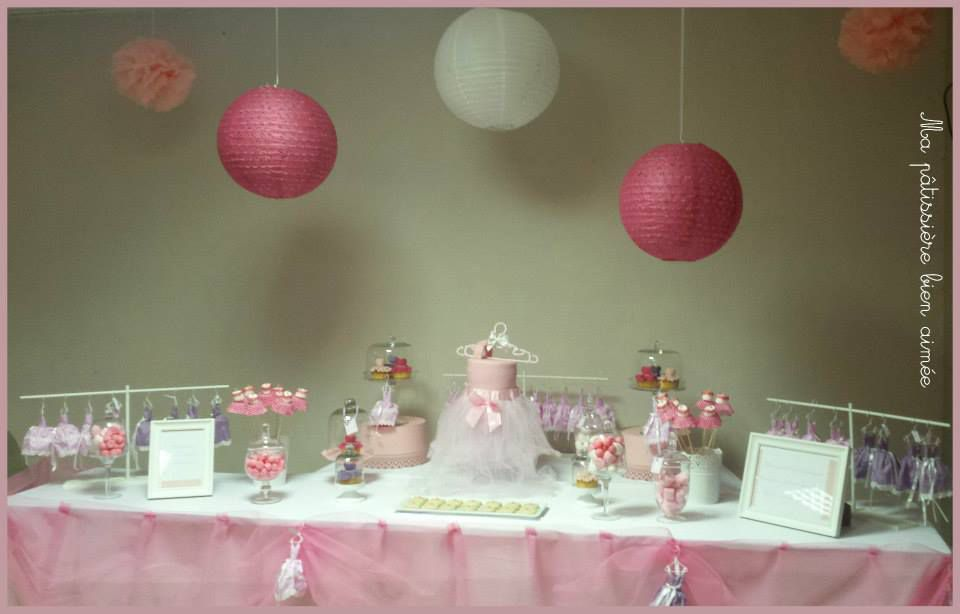 Sweet table candy bar bapt me b b fille ma p tissi re - Idee deco de table pour bapteme fille ...