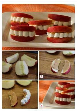 Pommes et mini chamallows