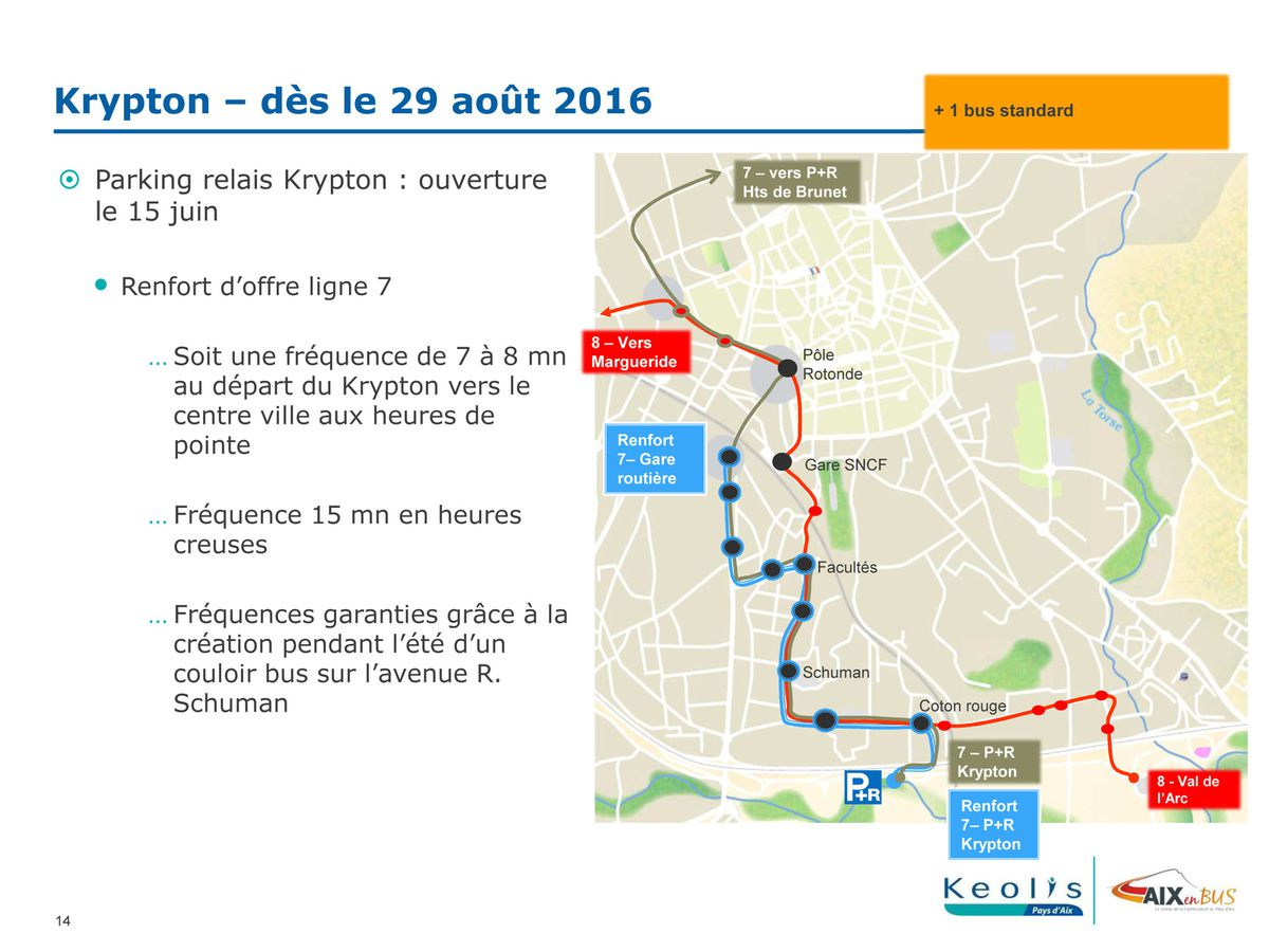 Les Transports en commun à compter du 4 juillet 2016