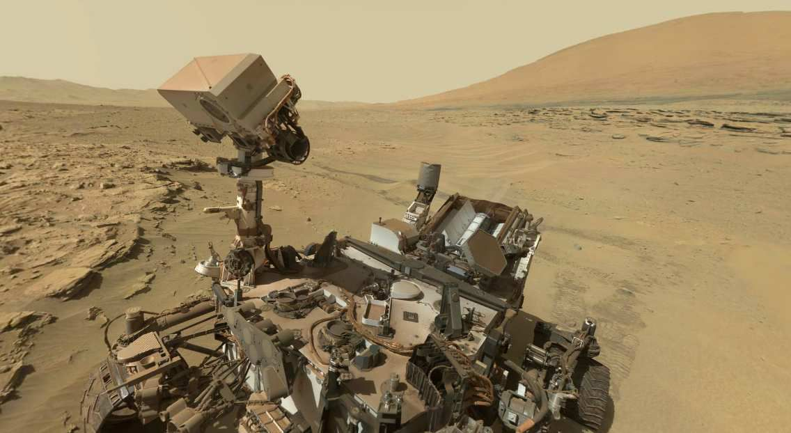 Planet Mars : Curiosity rover photography fossil