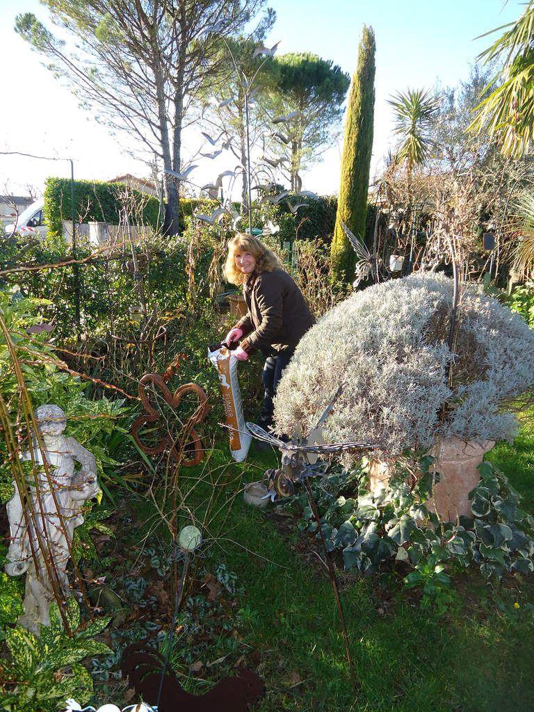 Aujourd'hui ,j'ai amendé mon jardin  en l'enrichissant avec du fumier.....