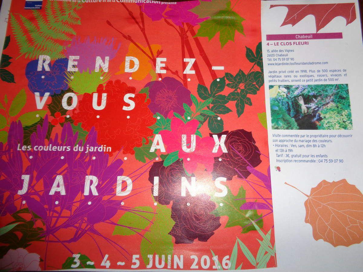 Rendez vous jardins 2016   au Clos Fleuri