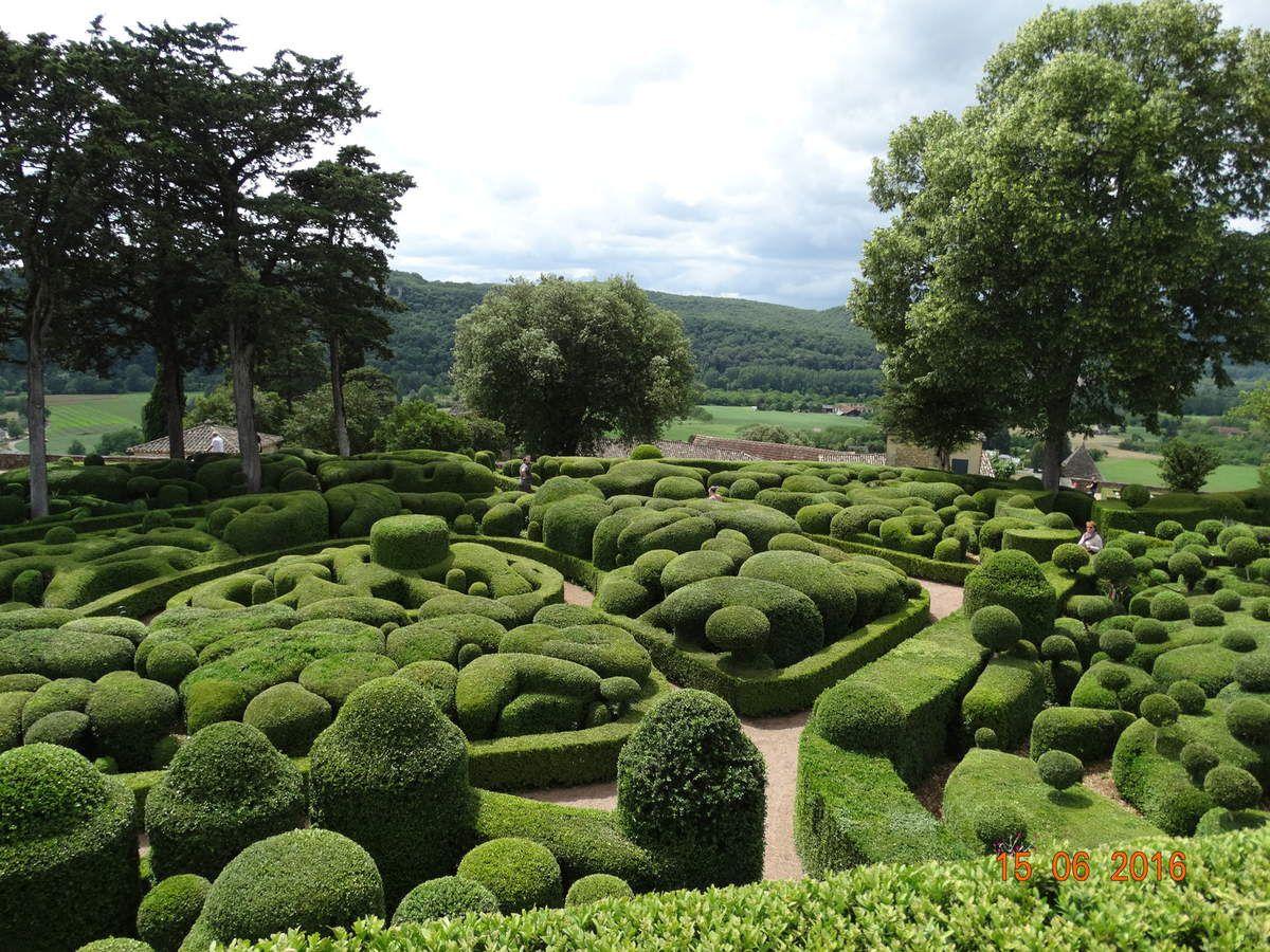 Notre sortie camping car dans le Perigord :les jardins de Marqueyssac