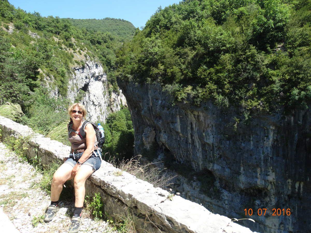 Mes randos ....Le canyon des Gueulards