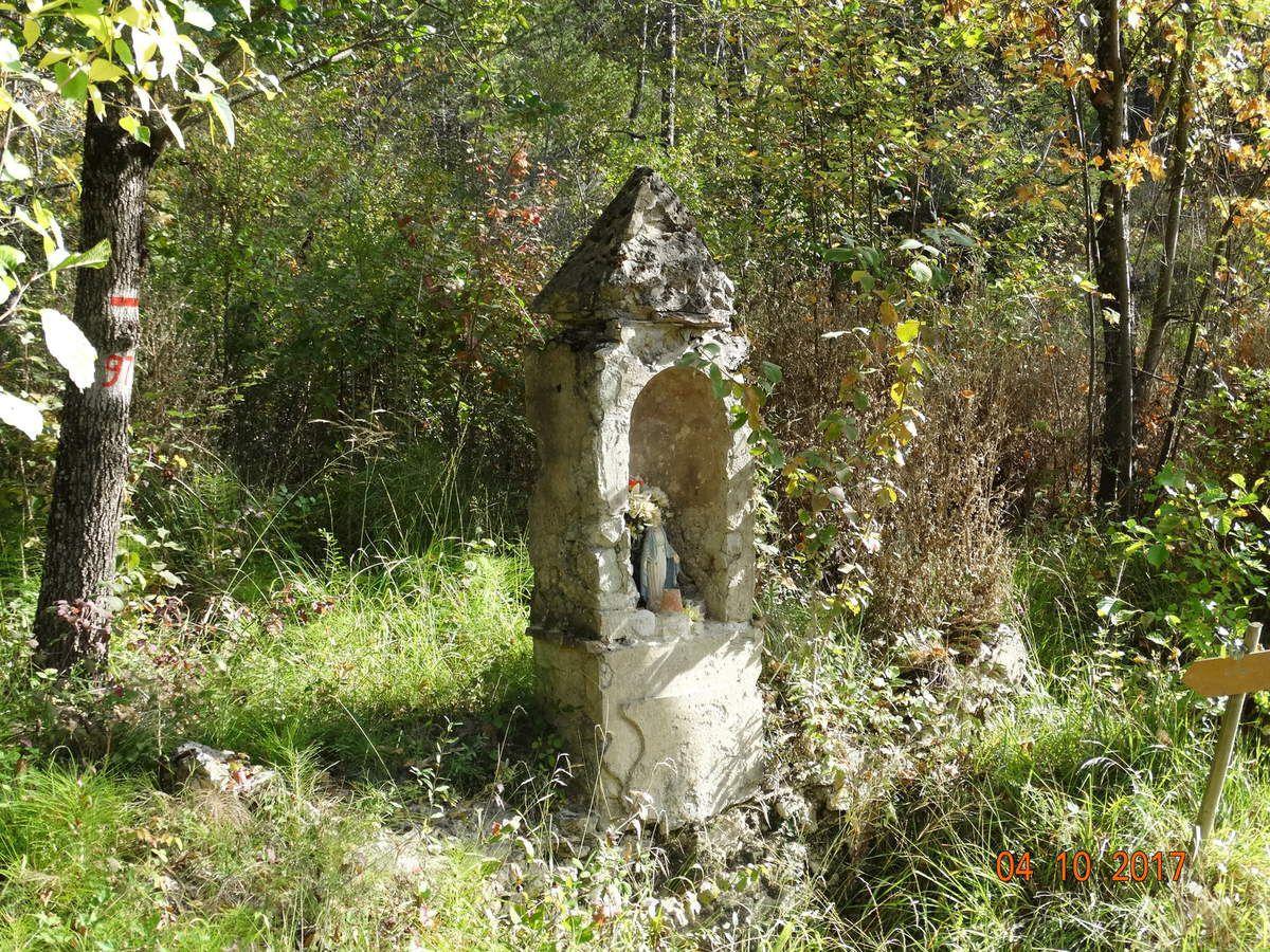 Mes randos : La Chapelle St-Christophe depuis Montclar-sur-Gervanne.