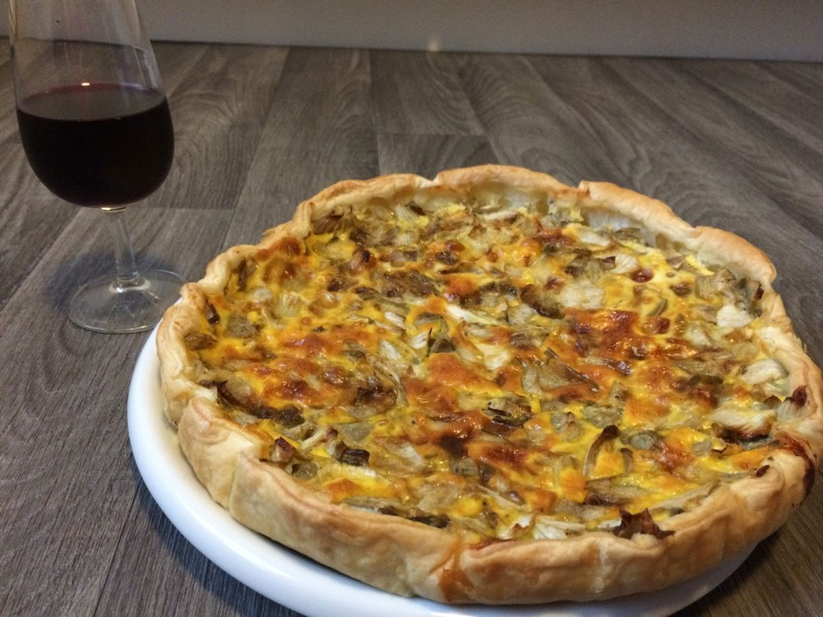 Quiche endives et roquefort
