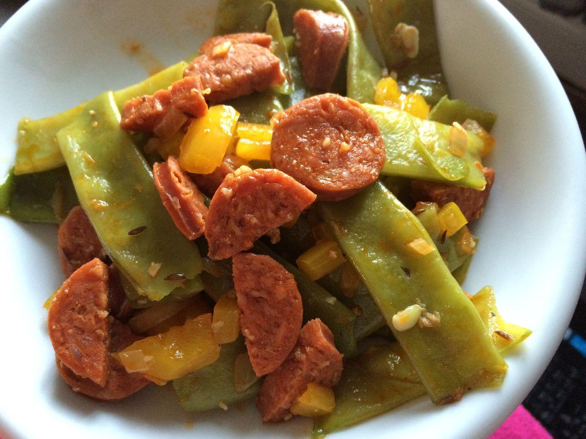 Haricots plats l 39 espagnol la cuisine de juju - Cuisiner les haricots plats ...